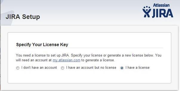 JIRA Setup Wizard Fails with Errors on Licence Key Setup