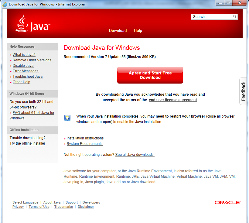 java download 64 bit version 7