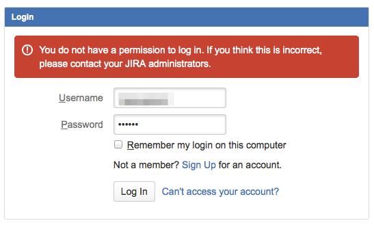 Unable to login to JIRA applications - Atlassian Documentation