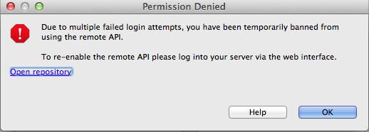 Remote API permission denied when using JIRA Eclipse plugin on Mac