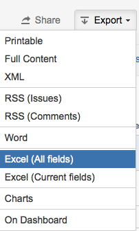 Export More than 1000 Issues to Excel from Issue Navigator