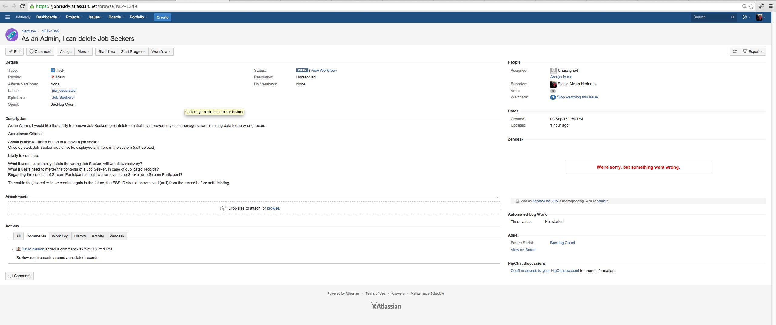 Unable to view ZenDesk tickets in Jira - Atlassian Documentation