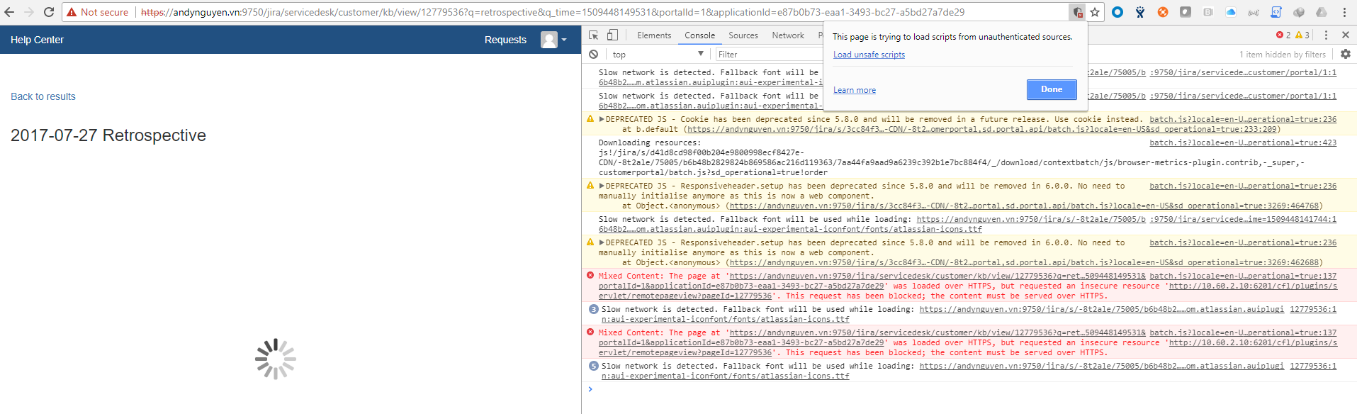 Unable to View Knowledge Base due to Browser Security for