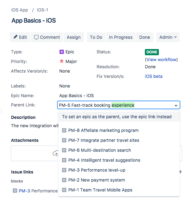 [JRASERVER-10574] Ability to search for issues by parent ...