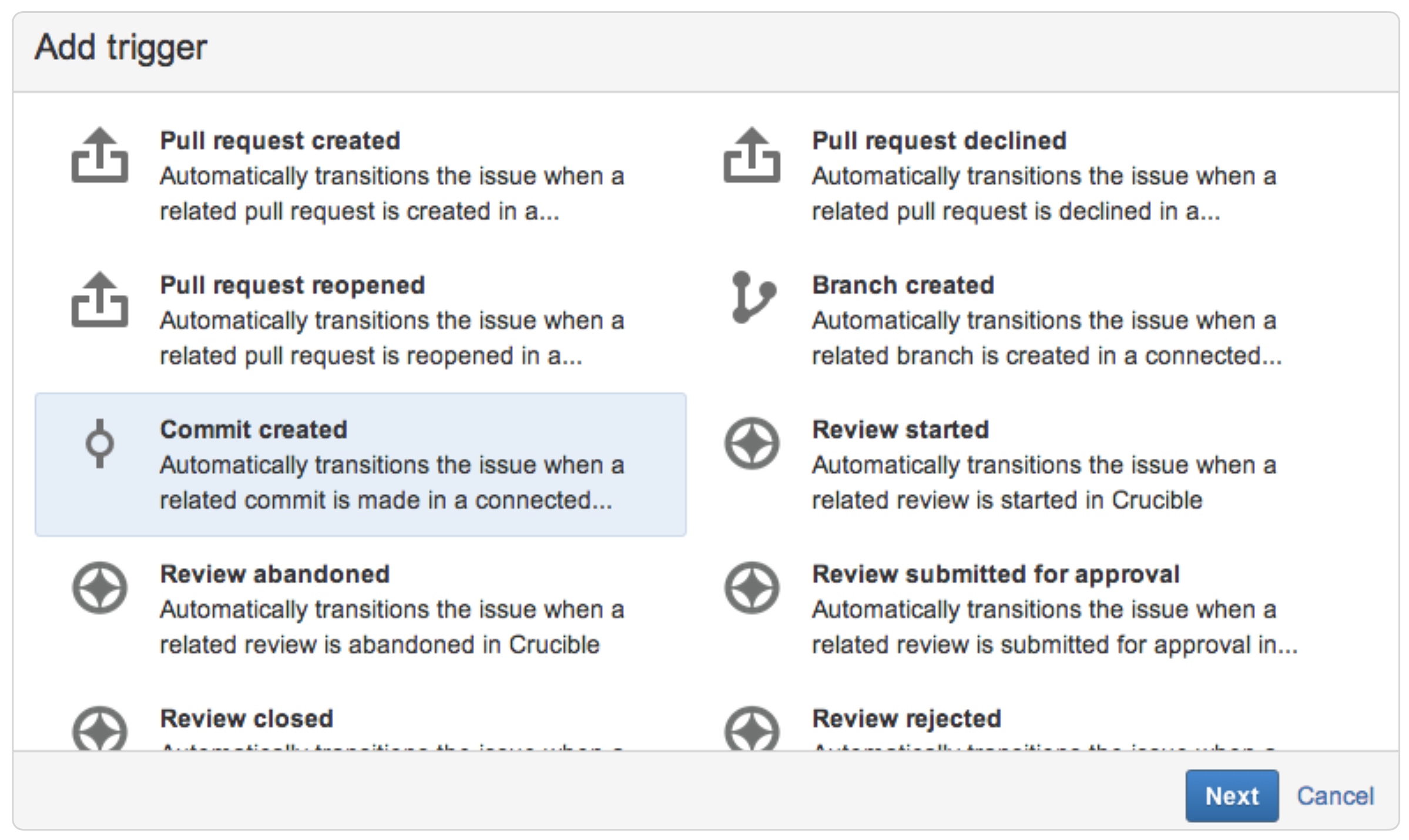 Workflow automation triggers - Atlassian Documentation