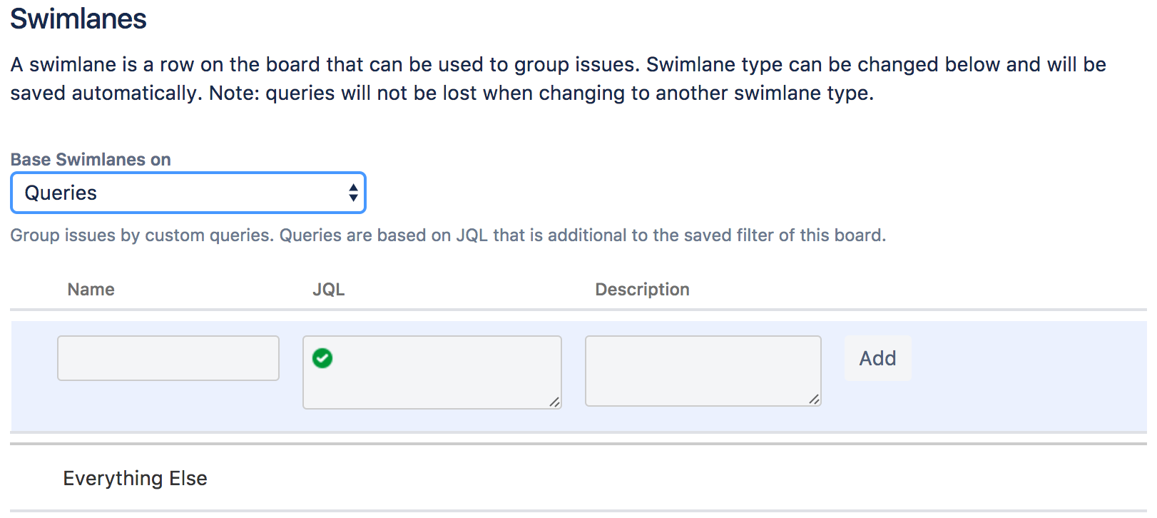 Configuring Swimlanes Atlassian Documentation Process Flow Diagram With Template Modifying Your Query Based