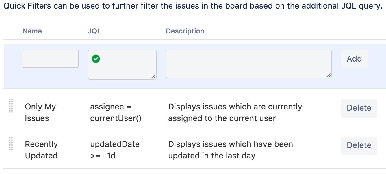 Configuring Quick Filters - Atlassian Documentation