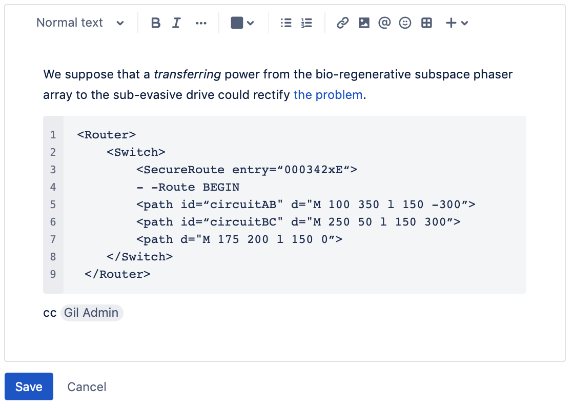 The New Jira Issue View Atlassian Documentation This Is Basic Configuration Put In Switch A If You Have Only 1 Editor Uses Markdown Rather Than Wiki Markup Right Now Youve Added Old Well Render It Correctly