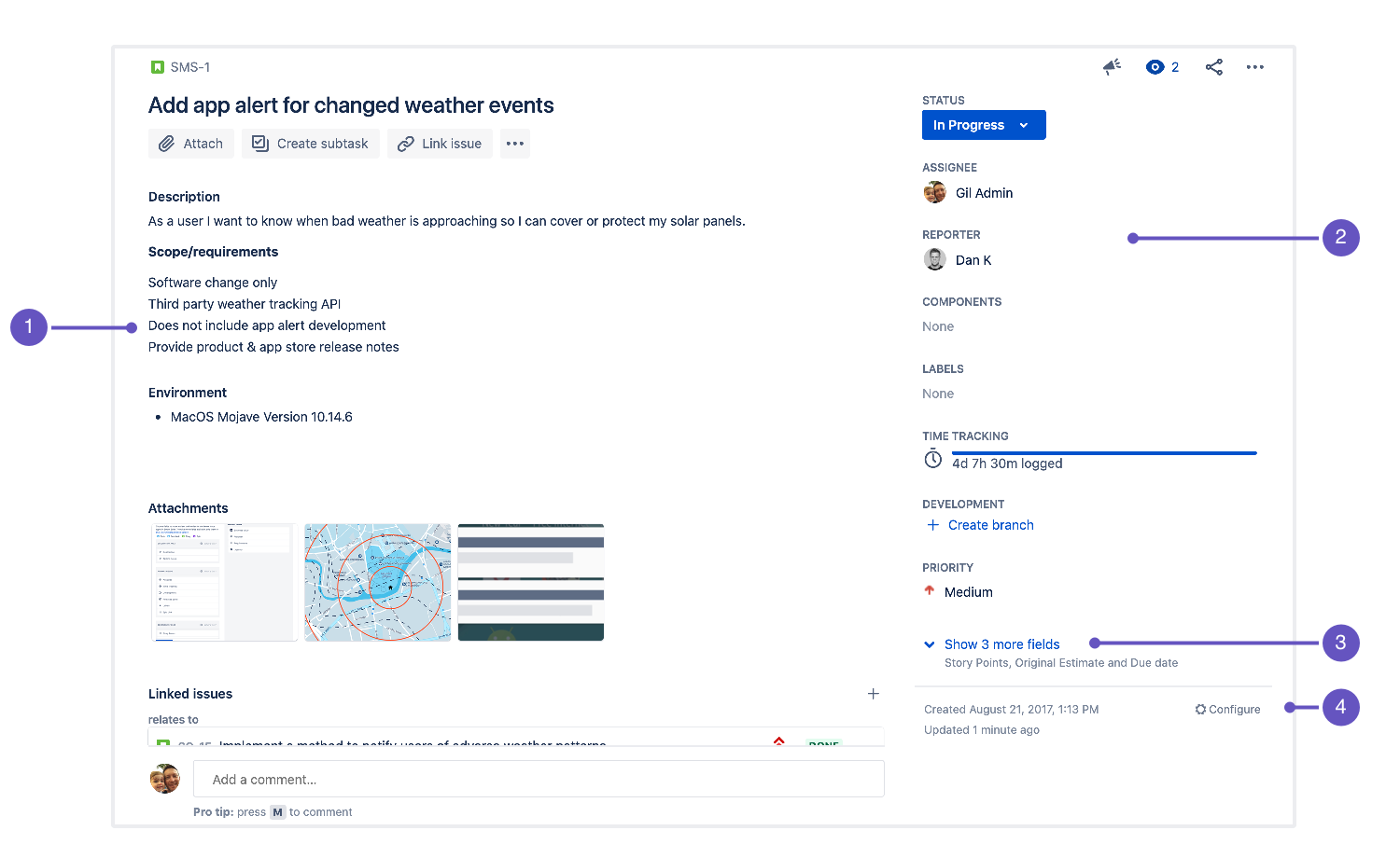 Configure Field Layout In The Issue View Jira Software Cloud Atlassian Support