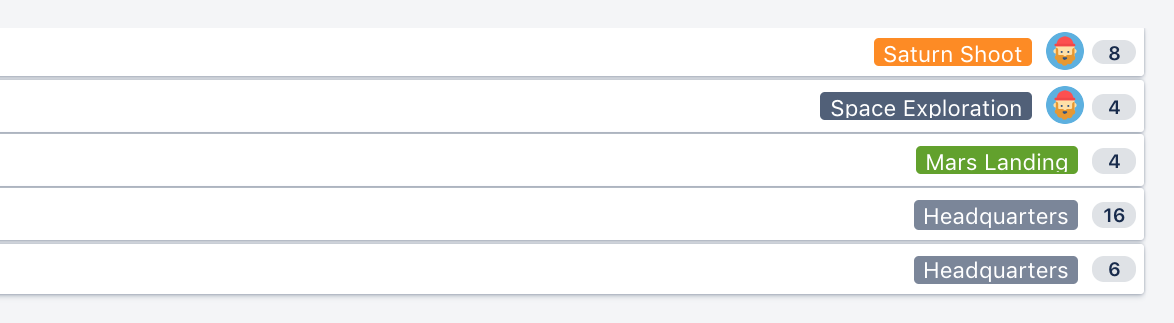バックログの課題の一覧に表示される見積もりフィールド。