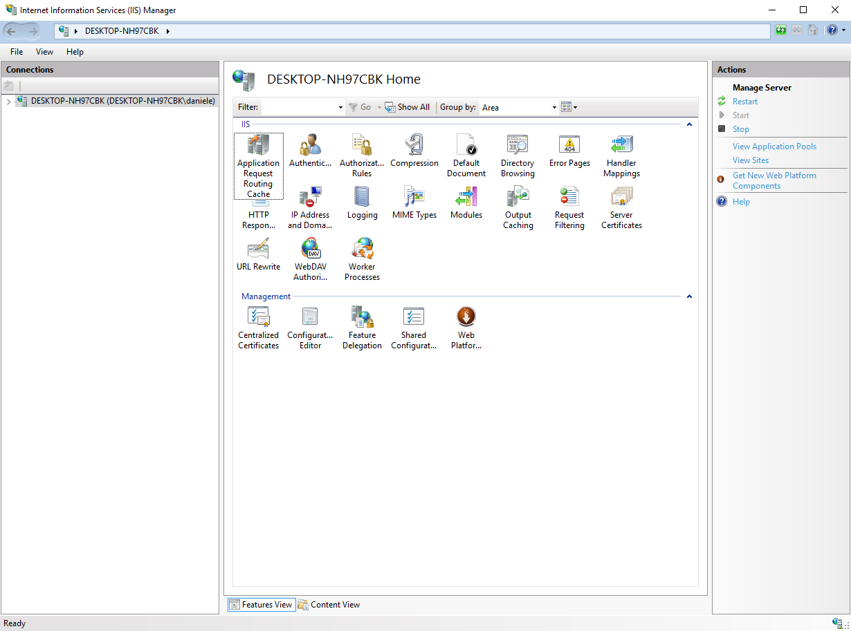 how to set proxy settings for iis processes