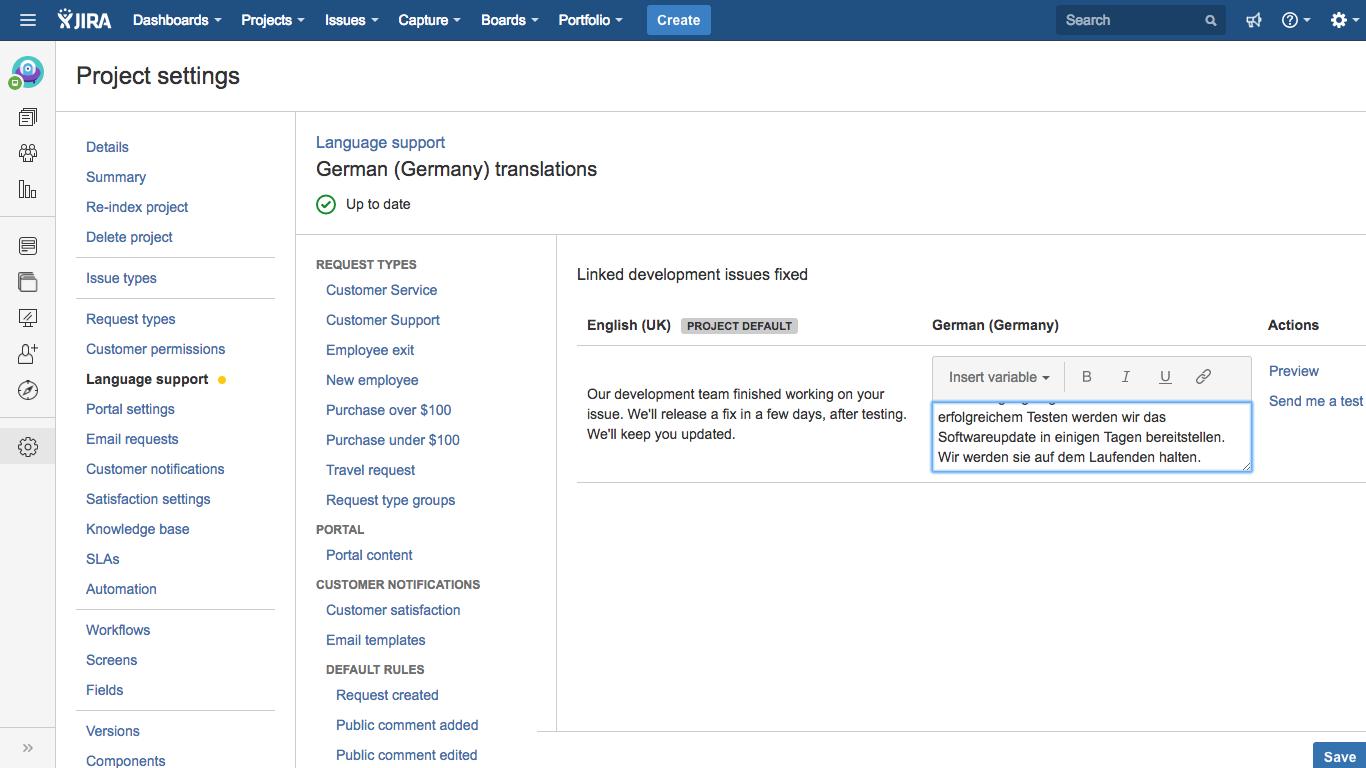 Managing service desk notifications Atlassian Documentation – New Customer Account Form Template