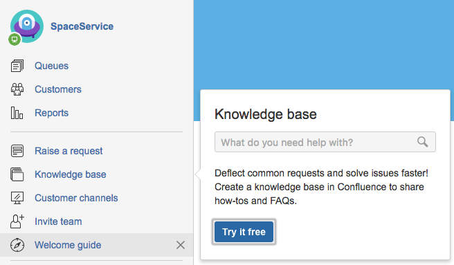 Serving customers with a knowledge base atlassian documentation to get started select knowledge base try it free in the sidebar pronofoot35fo Image collections