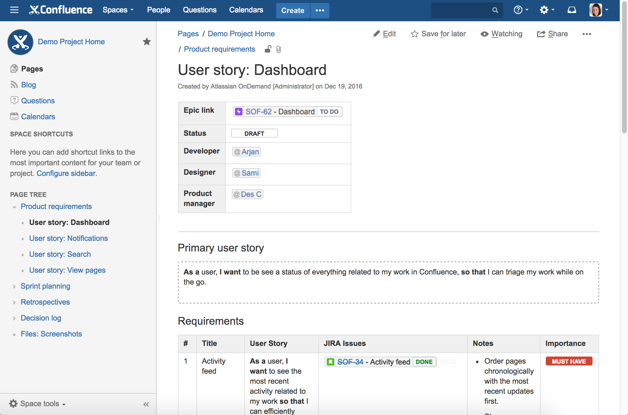 using jira applications with confluence atlassian