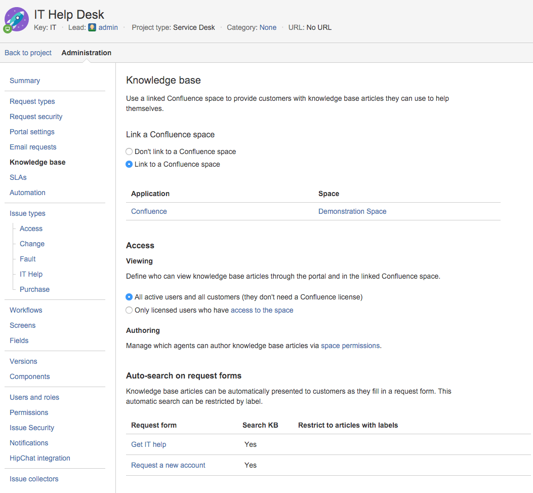 Serving customers with a knowledge base atlassian documentation linking a knowledge base pronofoot35fo Image collections