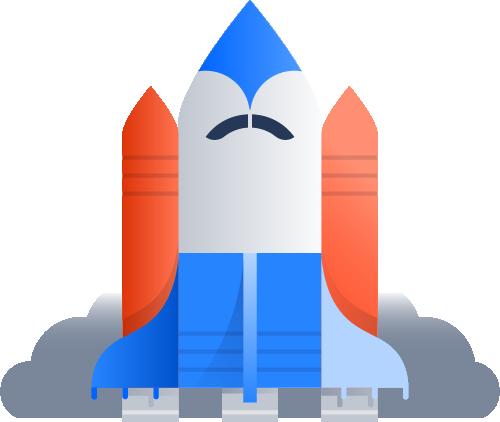 ロケットの画像。