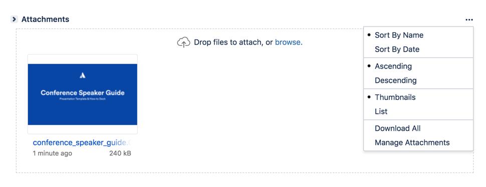 課題の添付ファイルセクション。