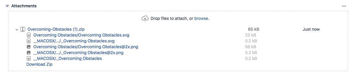 課題の添付ファイルの一覧。
