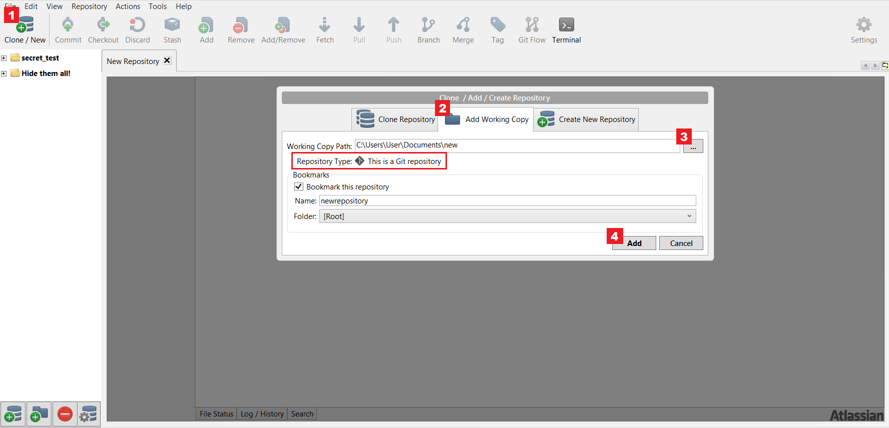 Add an existing repository into SourceTree - Atlassian