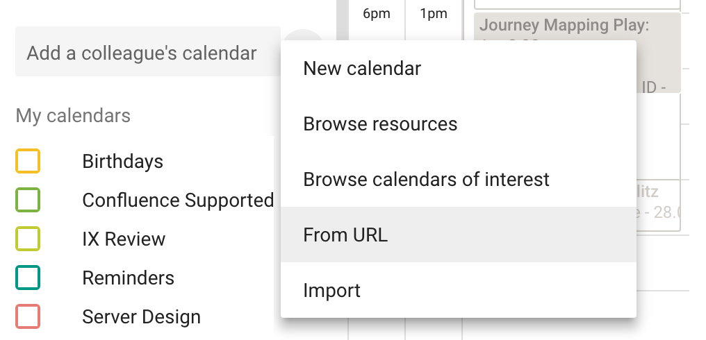 Subscribe to Team Calendars from Google Calendar - Atlassian