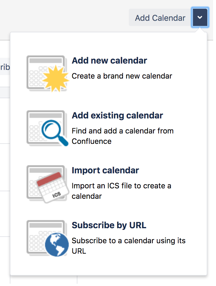 Create, Add, and Edit Calendars - Atlassian Documentation
