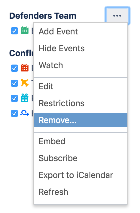 delete or remove a calendar atlassian documentation