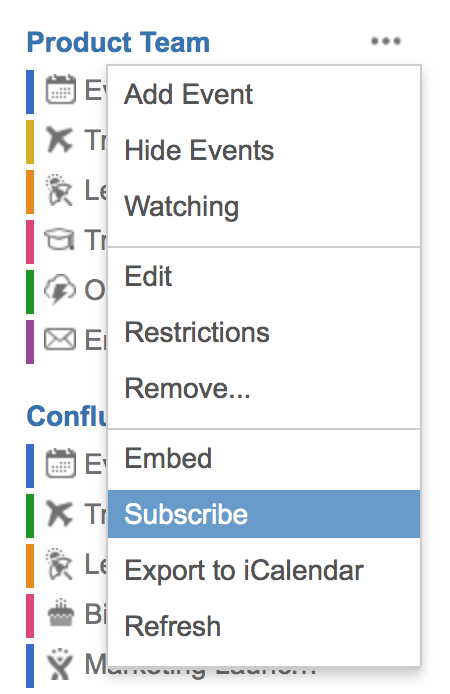 subscribe to team calendars from microsoft outlook atlassian documentation